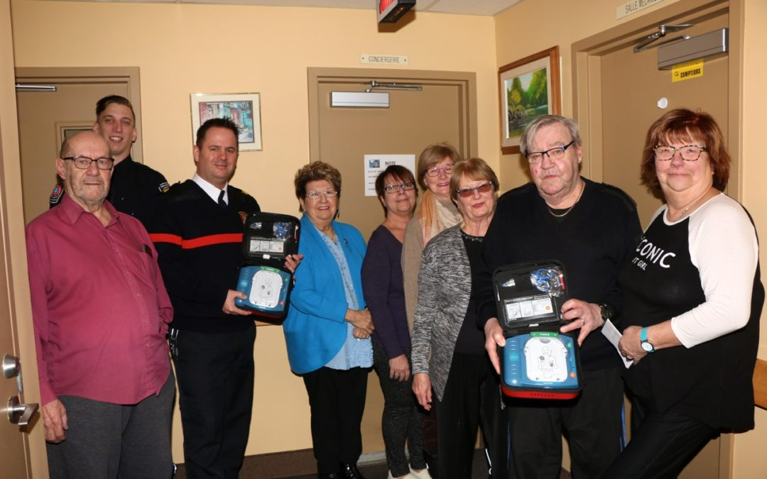 Two defibrillators and provides Hero in Thirty training for senior safety