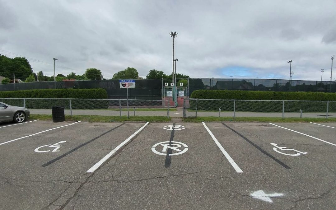 New dedicated parking at Bédard Park